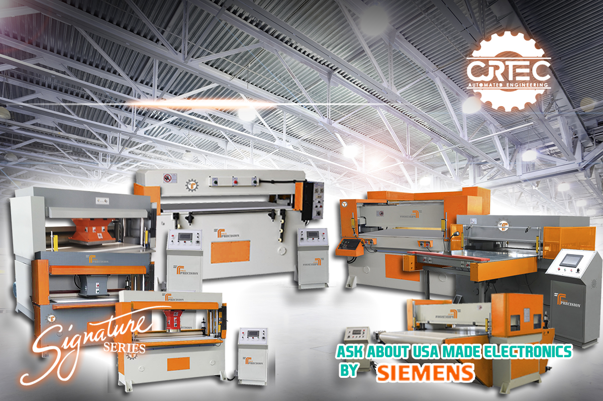 Different types of high quality CNC Presses such as conveyor press, beam press and travel head press