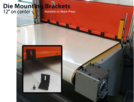 die mounting brackets