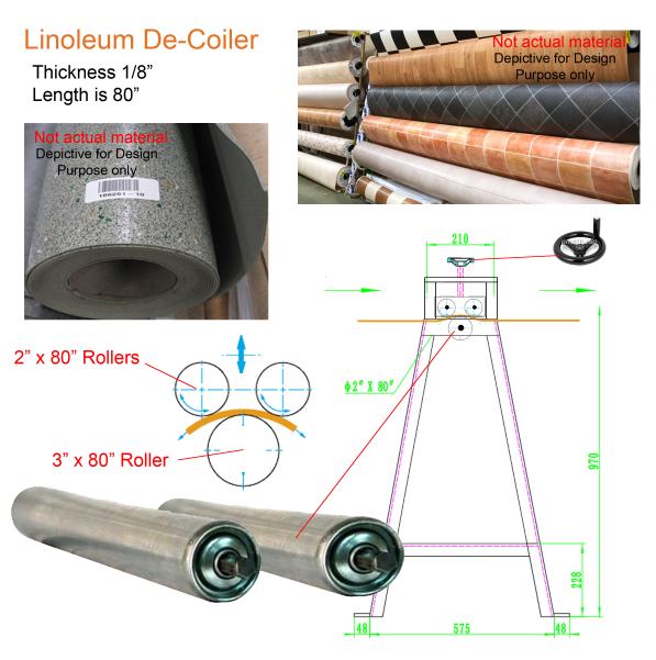 Linoleum de-coiler